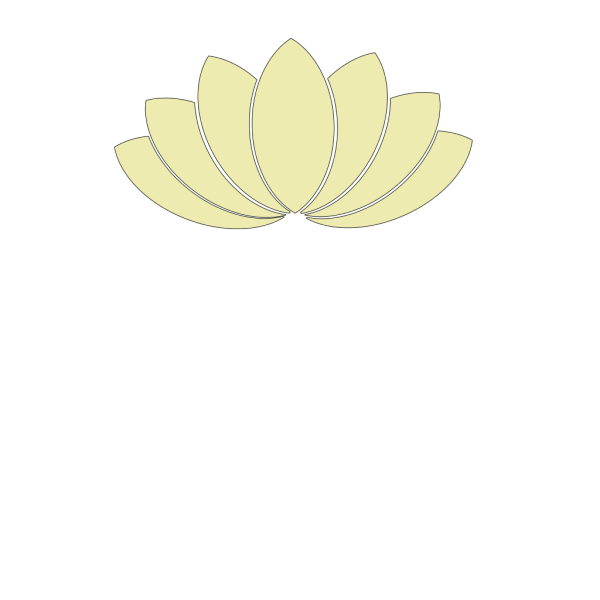 Cream Lotus Clipart PNG icon