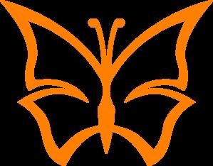 Orange Butterfly PNG Clip art