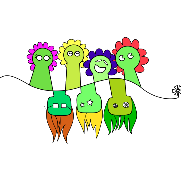 Flower People PNG Clip art