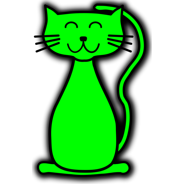 Green Cat PNG Clip art