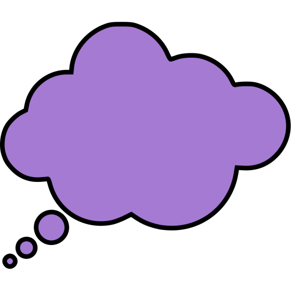 Blue Thought Bubble PNG images