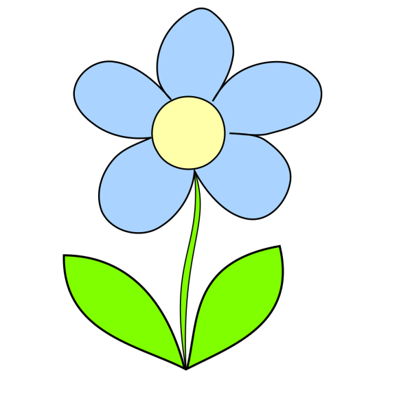 Light Blue Flower  PNG Clip art