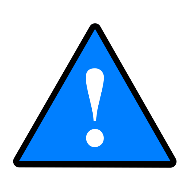 Black Blue White Warning 1 PNG Clip art