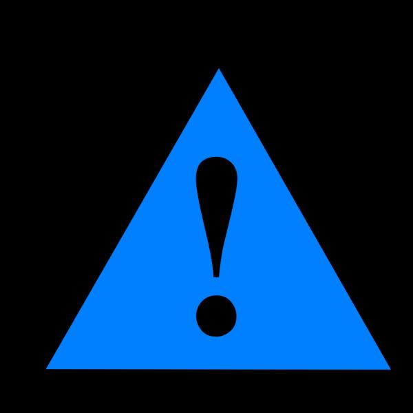 Black Blue Black Warning 1 PNG Clip art