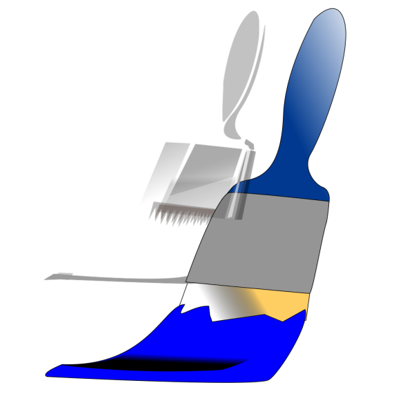 Paintbrush Blue PNG Clip art