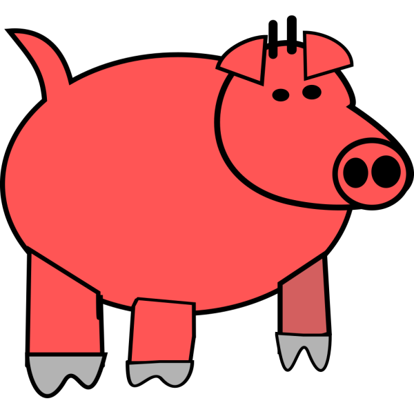 Cartoon Pig 1 PNG Clip art