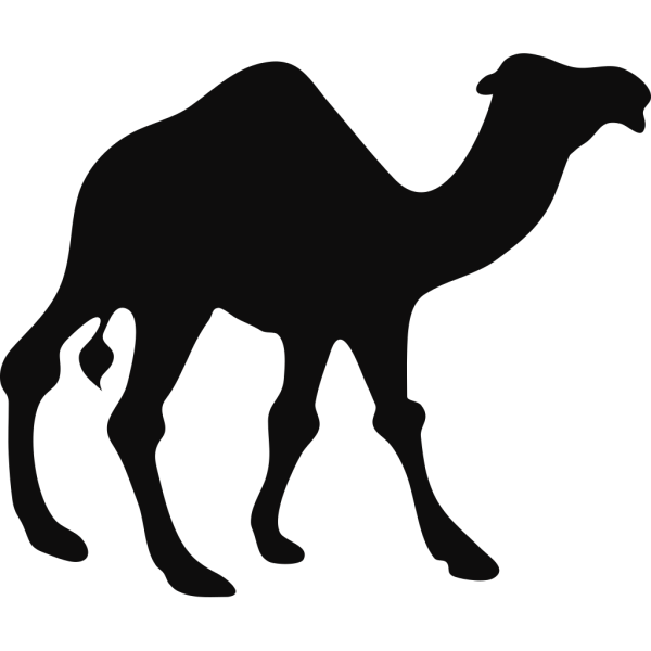 Walking Camel Silhouette PNG Clip art