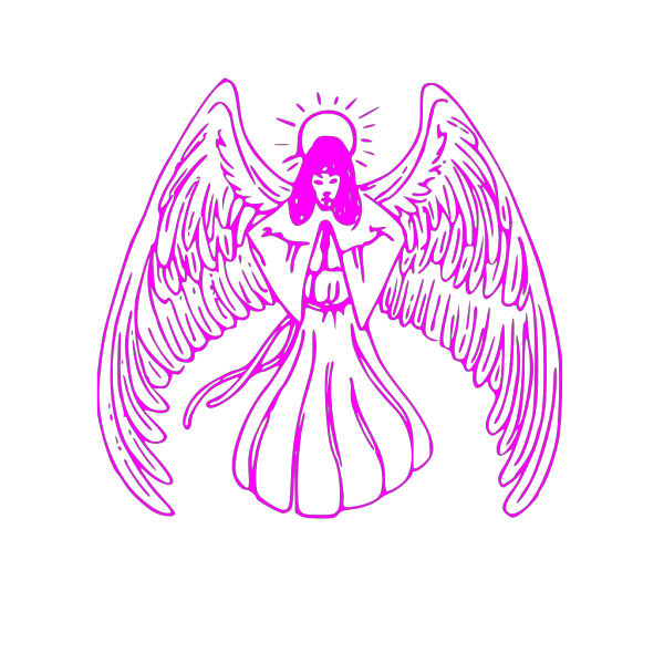 Pink Guardian Angel Wings PNG Clip art
