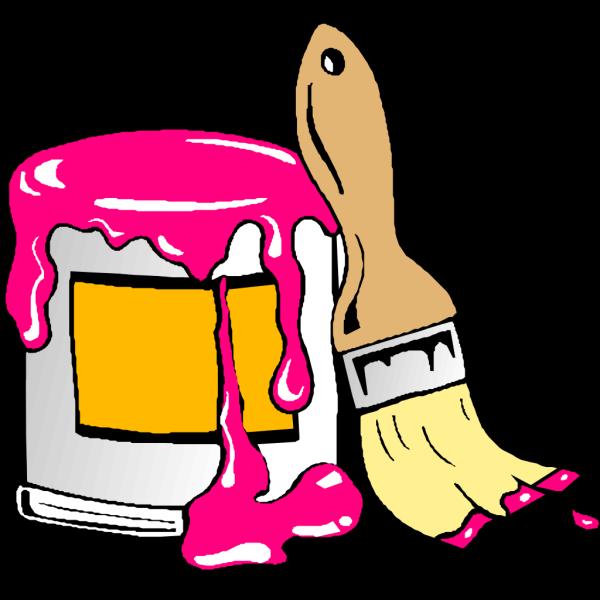 Pink Paintbrush PNG Clip art