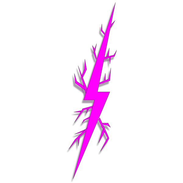Lightning Bolt Right PNG icon