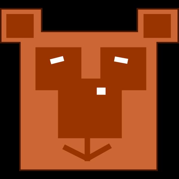 Brown Bear Head PNG Clip art