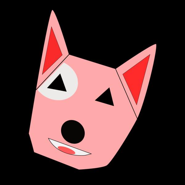 Pink Bullterrier PNG Clip art