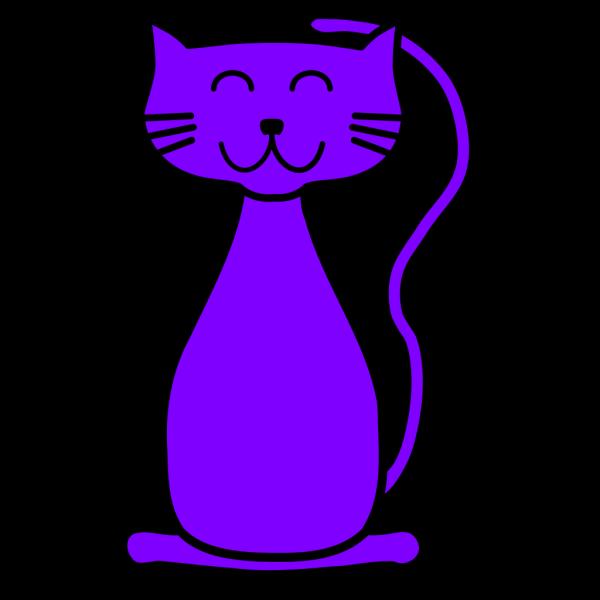 Purple Cat PNG Clip art