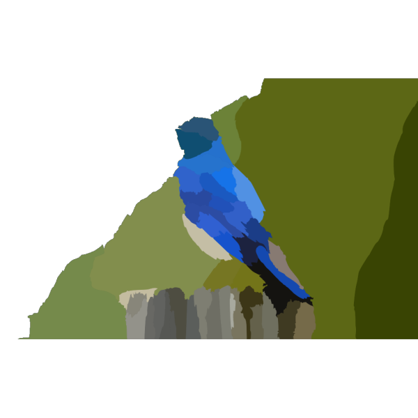 Mountain Blue Bird X PNG Clip art