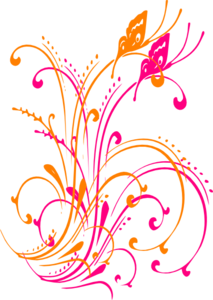 Butterfly Scroll Purple Blue Pink Tei PNG icon