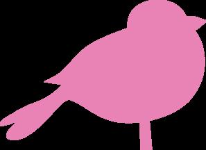 Pink Chubby Bird PNG Clip art