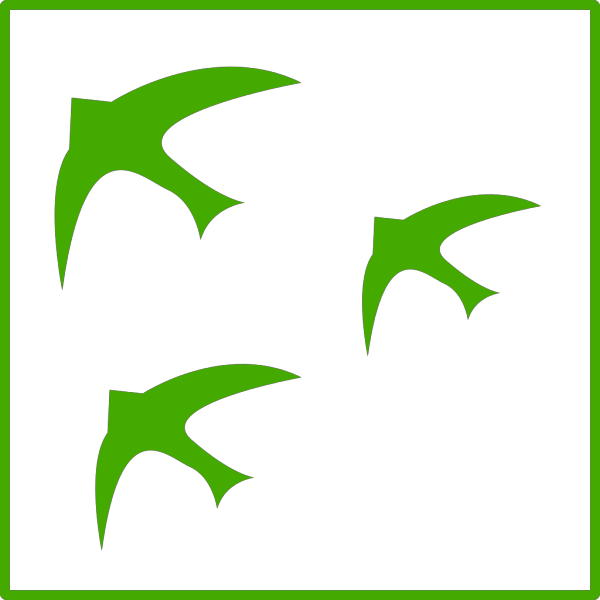 Green Birds Icon PNG Clip art