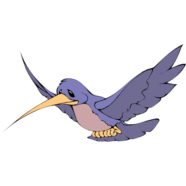 Flying Blue Bird PNG Clip art