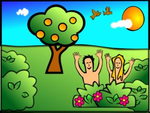 Happy Adam And Eve Cartoon PNG Clip art