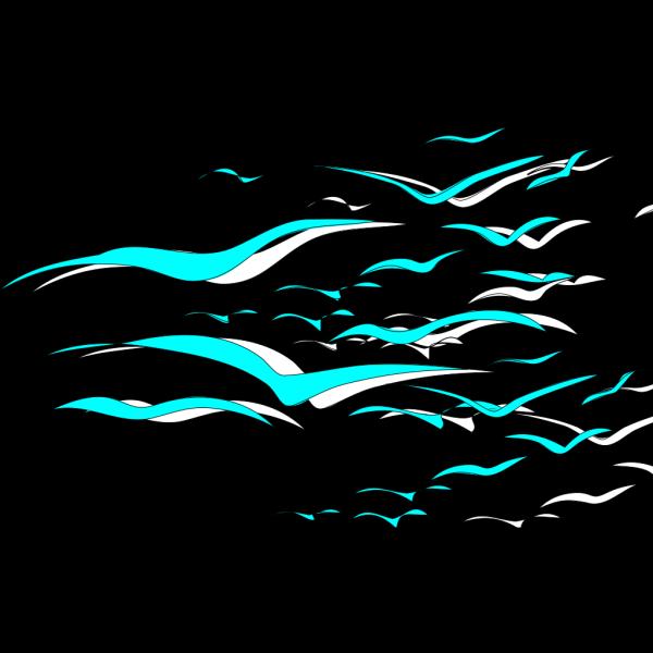 Light Blue Birds PNG Clip art