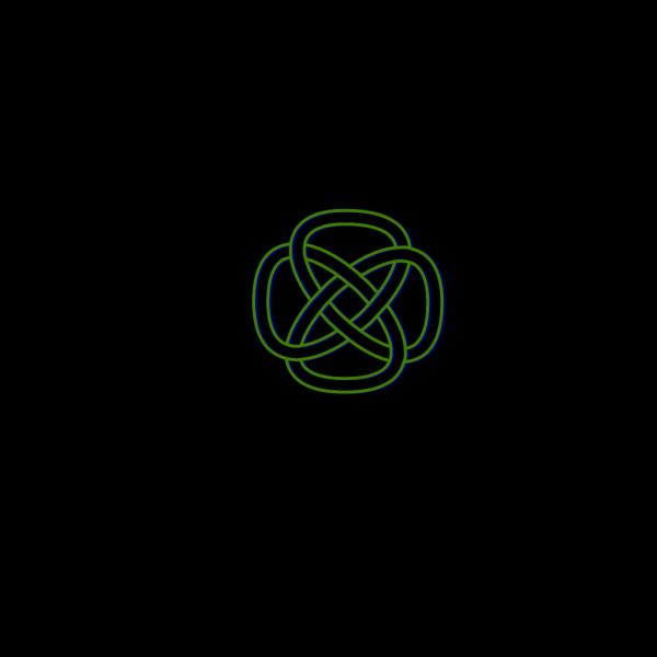 Blue Green Knot PNG Clip art