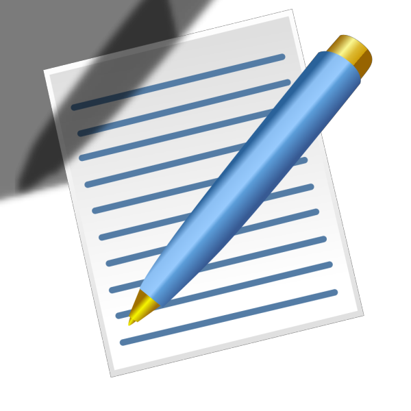 Pen And Paper PNG Clip art