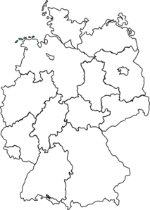 Germany Map Blue