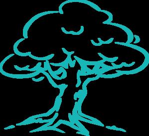 Blue Tree PNG Clip art
