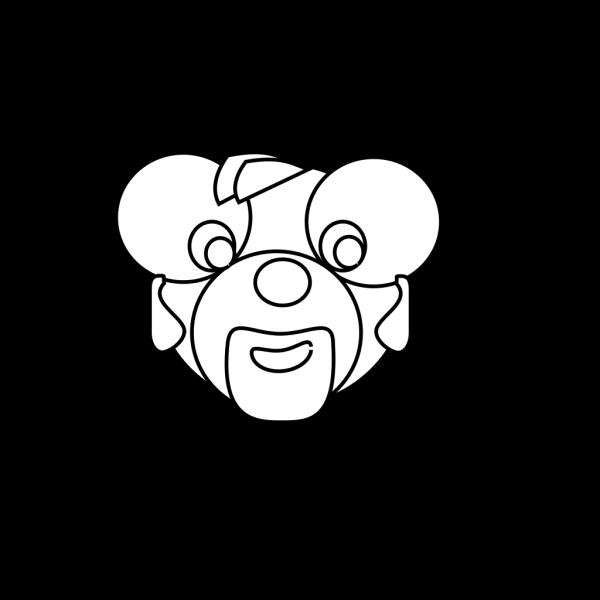 Cartoon Bear Head Outline PNG Clip art