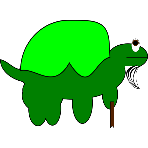 Old Tortoise With Stick PNG Clip art