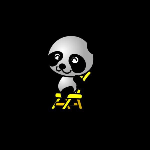 Sitting Panda Bear PNG Clip art