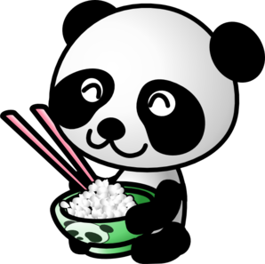 Panda Eating Rice PNG Clip art