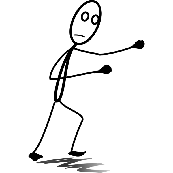 Fighting Stickman PNG Clip art