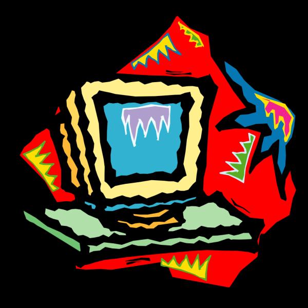 Funky Computer Art PNG Clip art