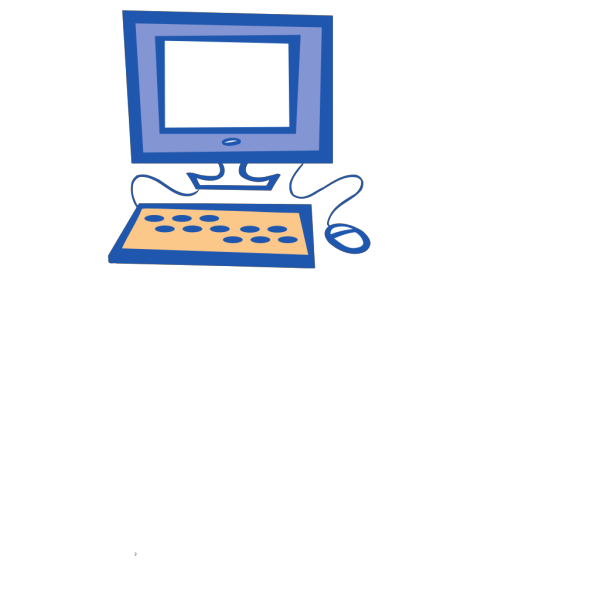 Simple Computer PNG Clip art