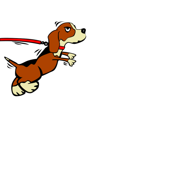 Dog On Leash PNG images