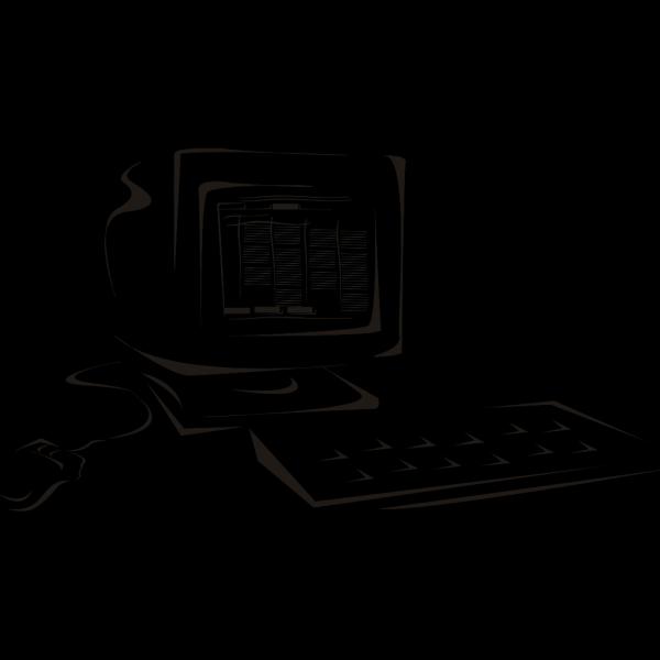 Computer Line Art PNG Clip art