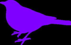 Purple Bird Silhouette PNG Clip art