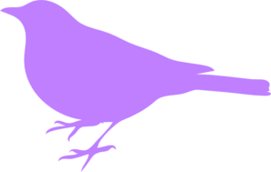Pink And Purple Bird Silhouette PNG Clip art