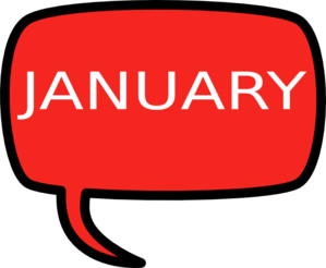 January PNG Clip art