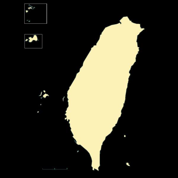 Taiwan Map PNG Clip art