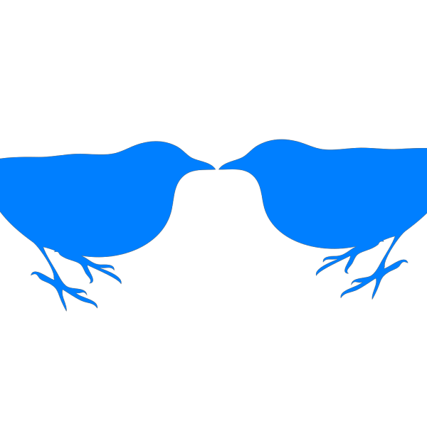 Blue Birds Touching PNG Clip art