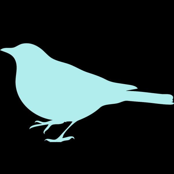 Light Blue Bird PNG Clip art