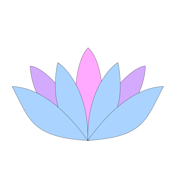 Lavender Lotus Flower PNG icons