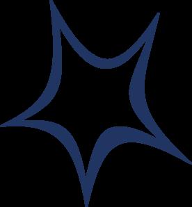 Dark Blue Star of David PNG Clip art