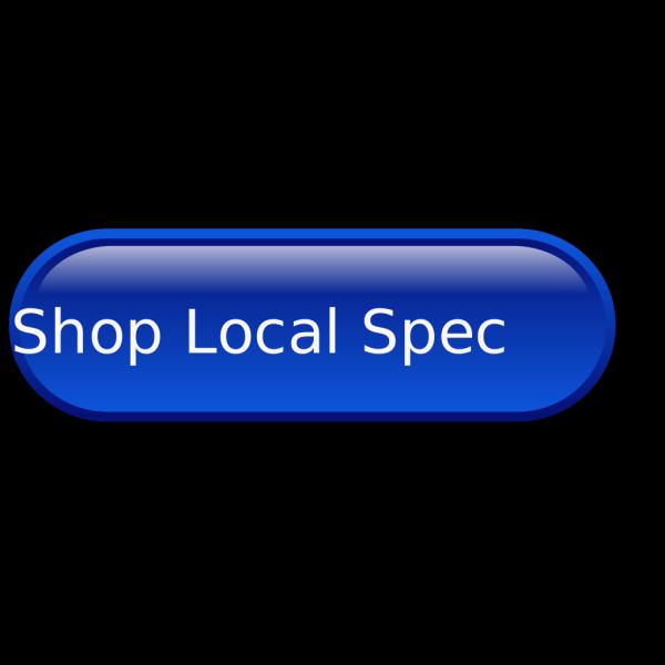 Blue Button Shop Local PNG Clip art