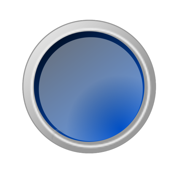 Glossy Blue Button PNG Clip art