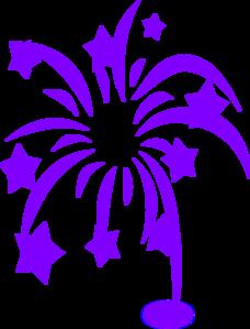 Blue Fireworks PNG images