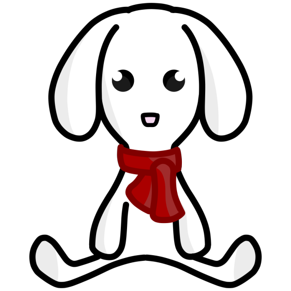 Rabbit With Scarf PNG Clip art