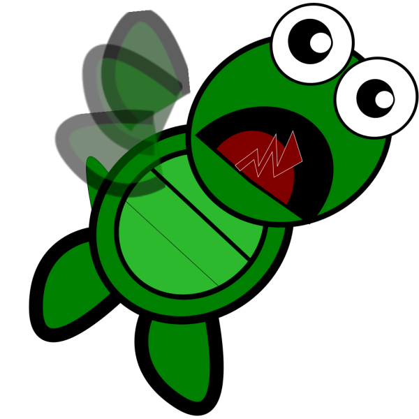 Turtle Flapping PNG Clip art